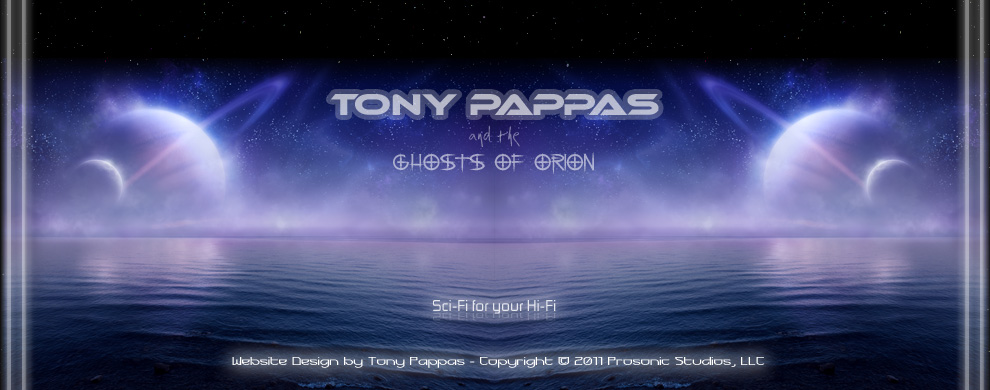 Tony Pappas & The Ghosts of Orion Website Footer